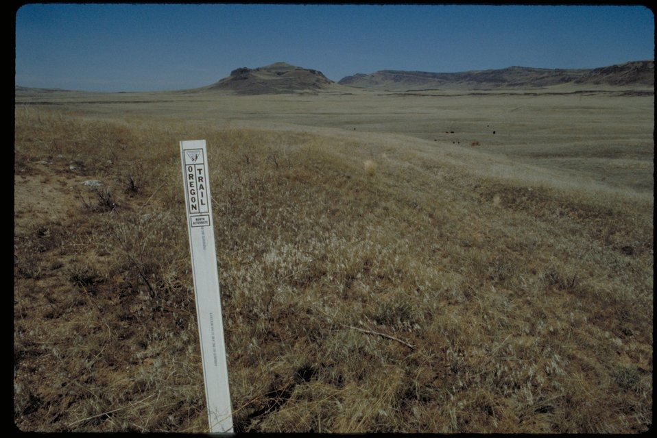Oregon Trail south east of Teapot Dome  Lower Snake River District