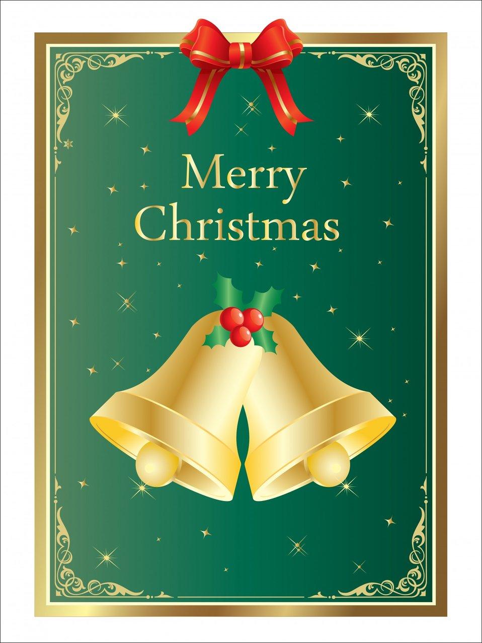 Christmas bells card template