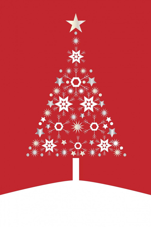 Christmas tree card modern