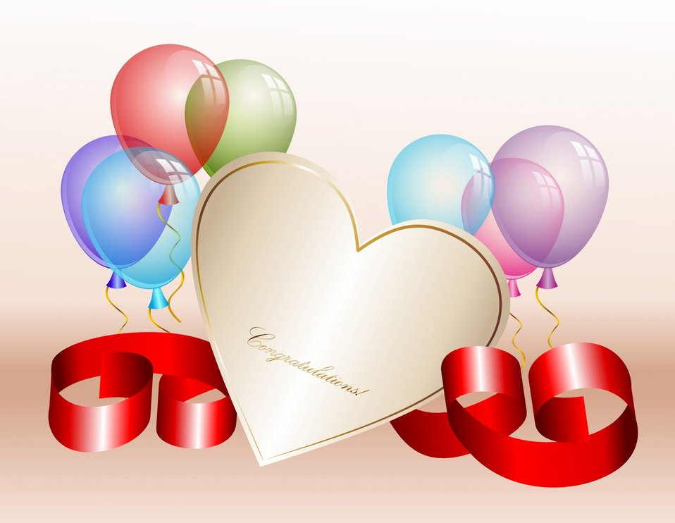 Balloons and heart