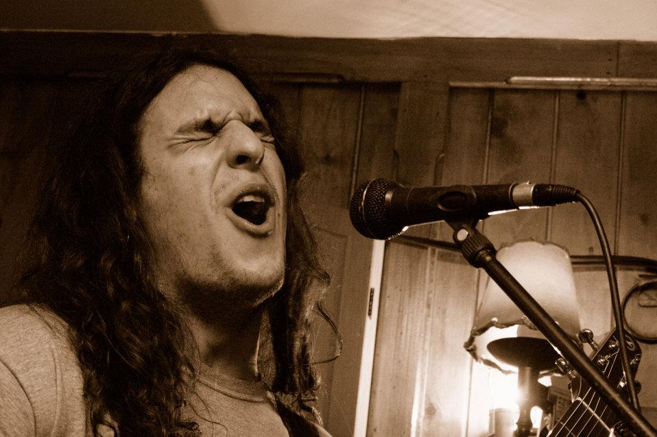 Singer at open mic