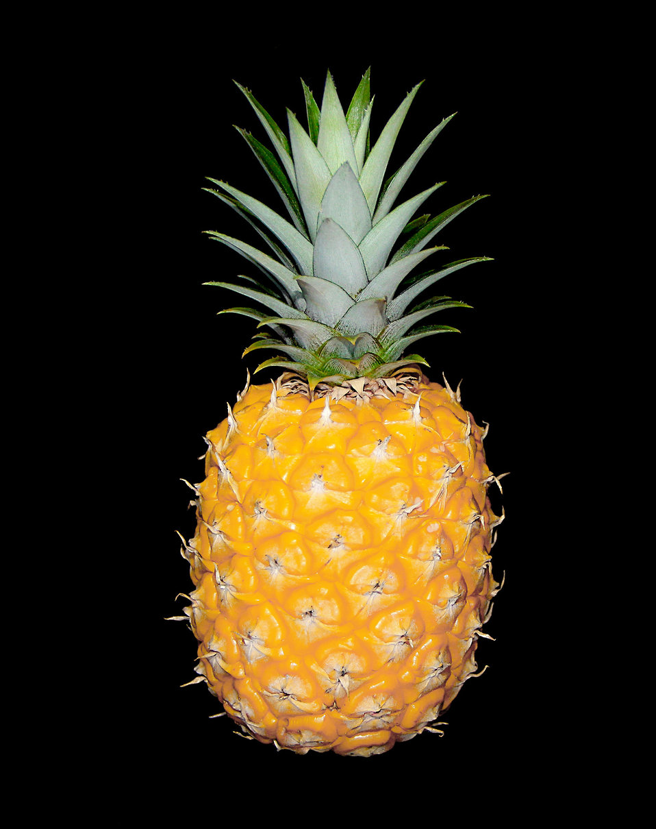 Public Domain Picture | Pineapple on black | ID ...