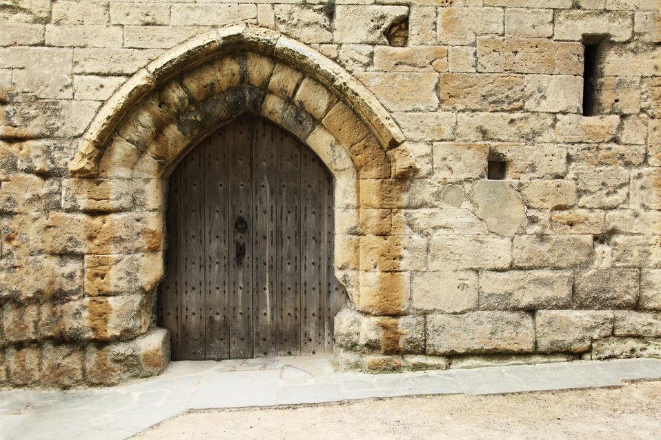 Old castle gate