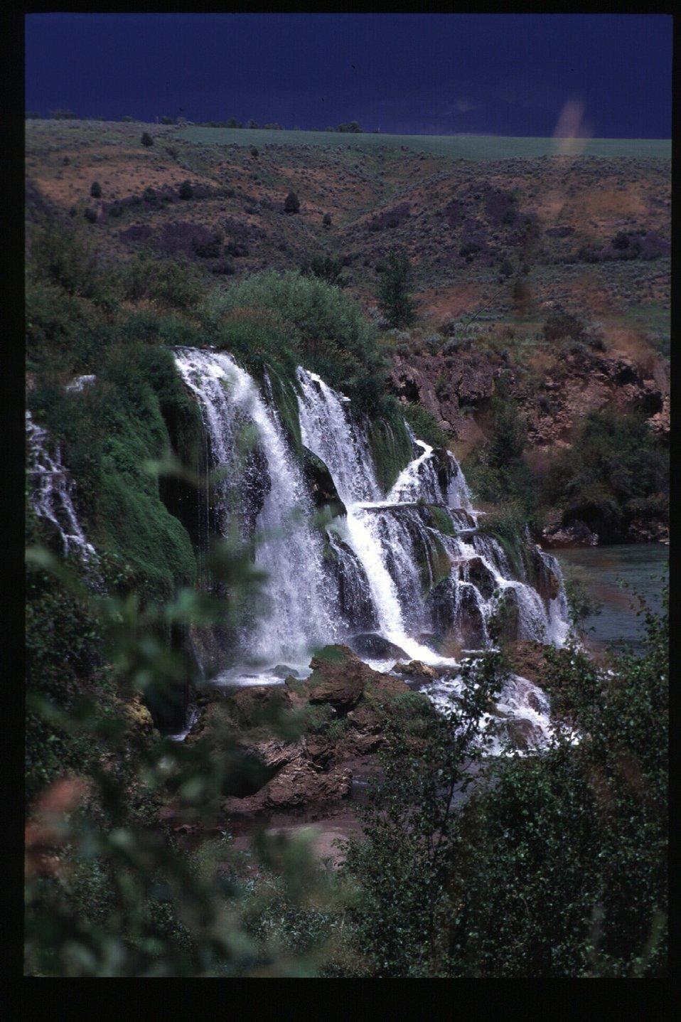 Scenic waterfall  Fall Creek Falls  Snake River Canyon  USRD  Upper Snake River District