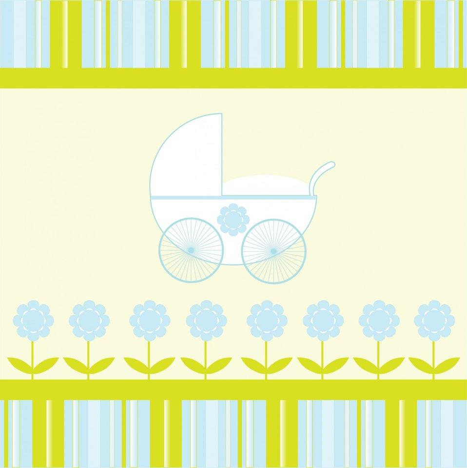 Baby boy stroller background
