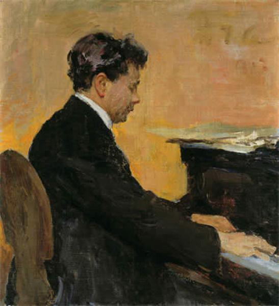 Portrait of Jozef Hofmann, Polish pianist