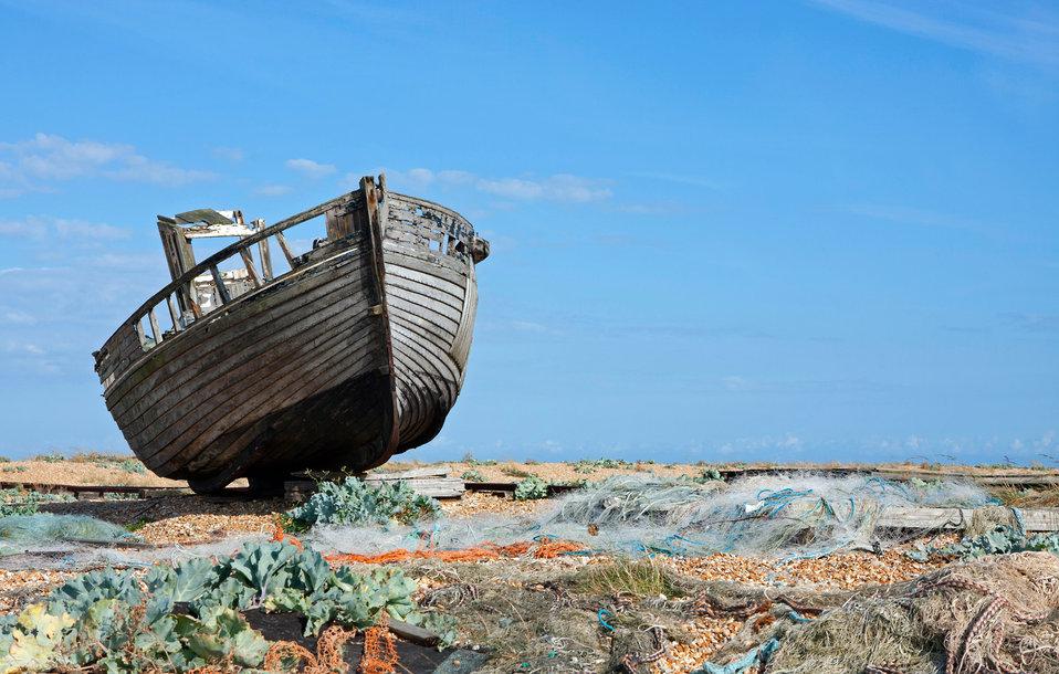 Wooden fishing boat
