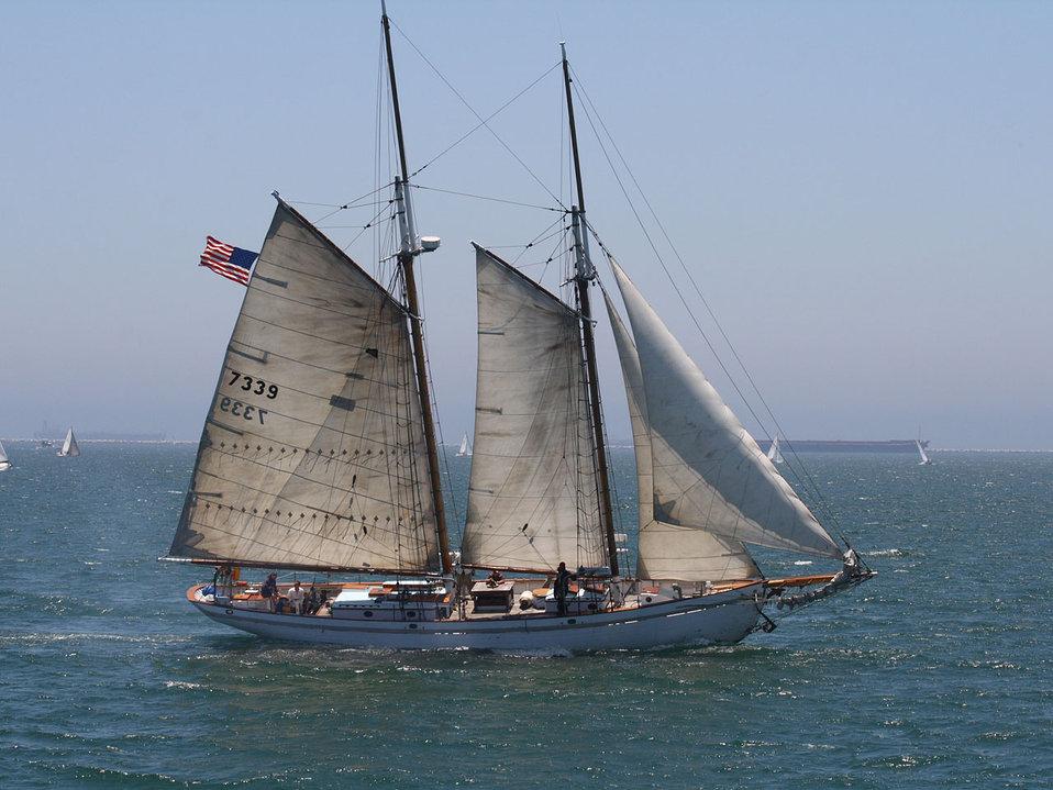 Two-masted schooner