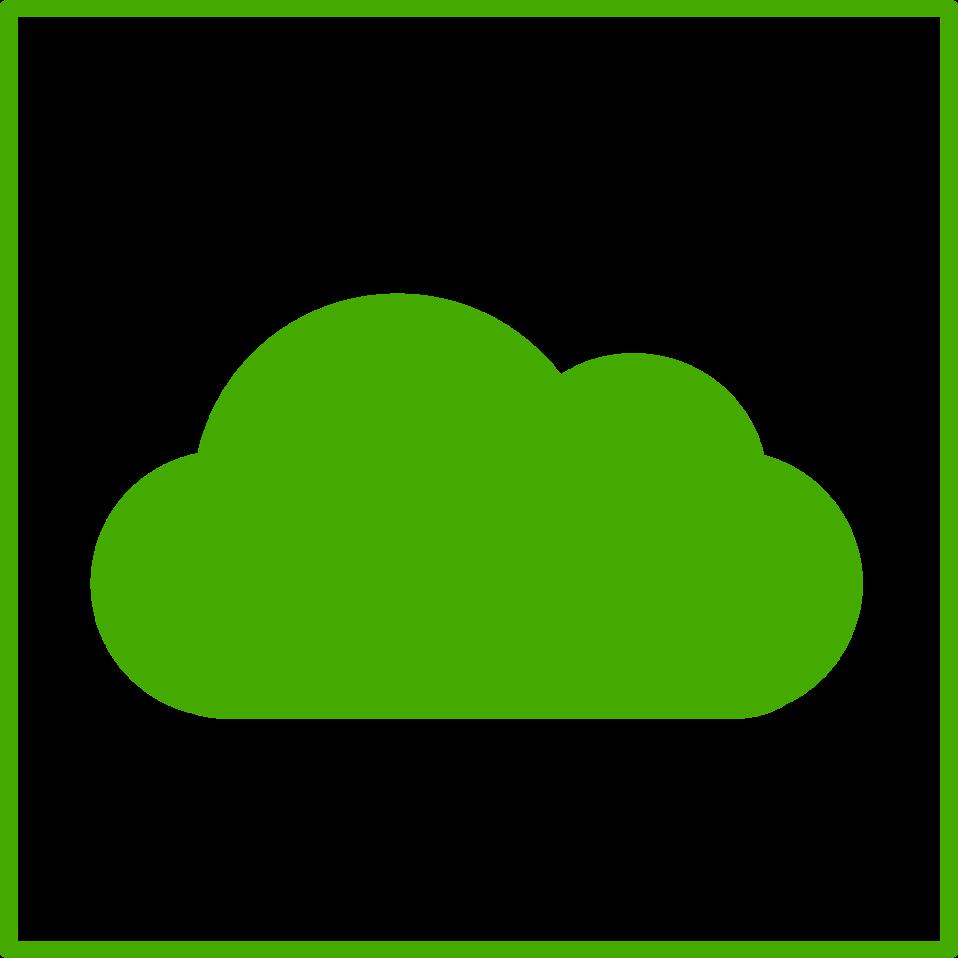 eco green cloud icon
