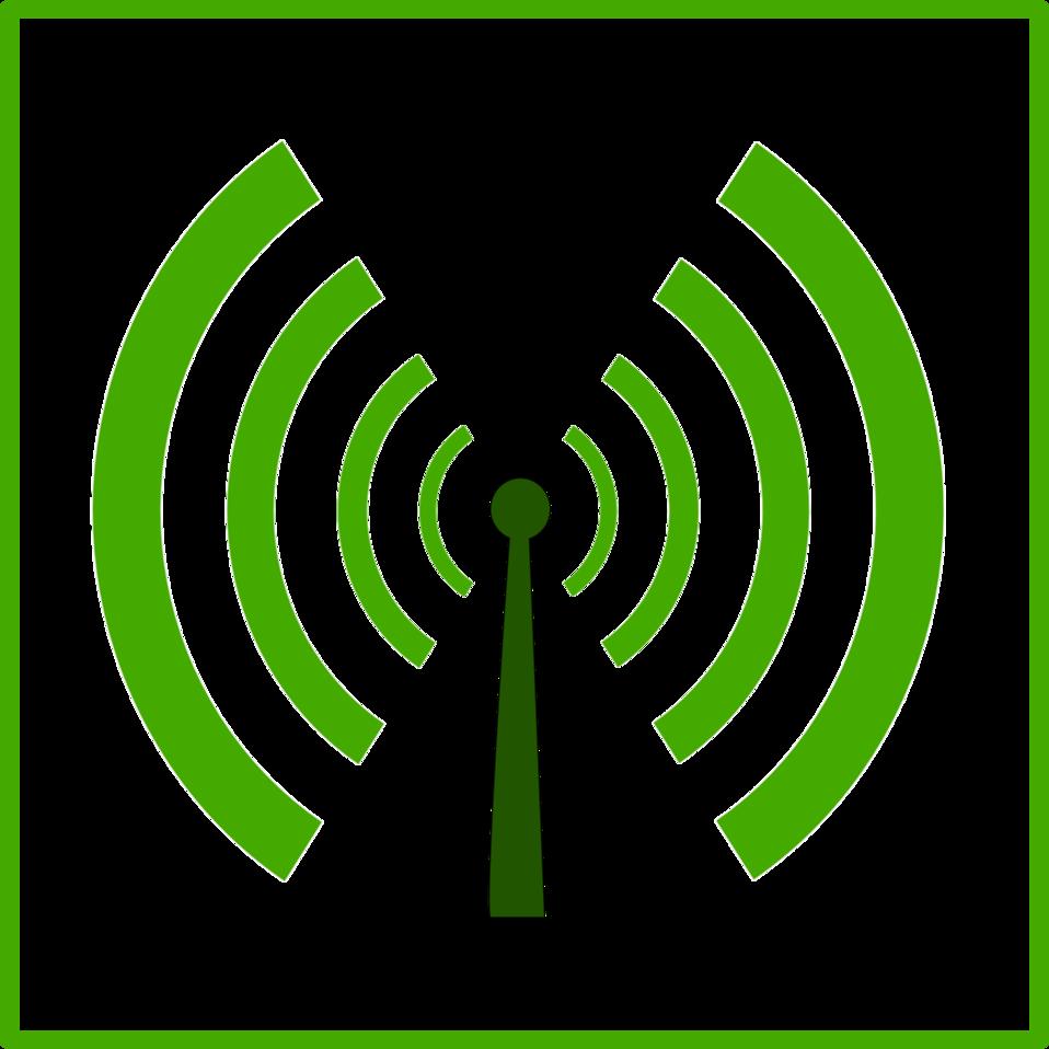 eco green wifi pollution icon