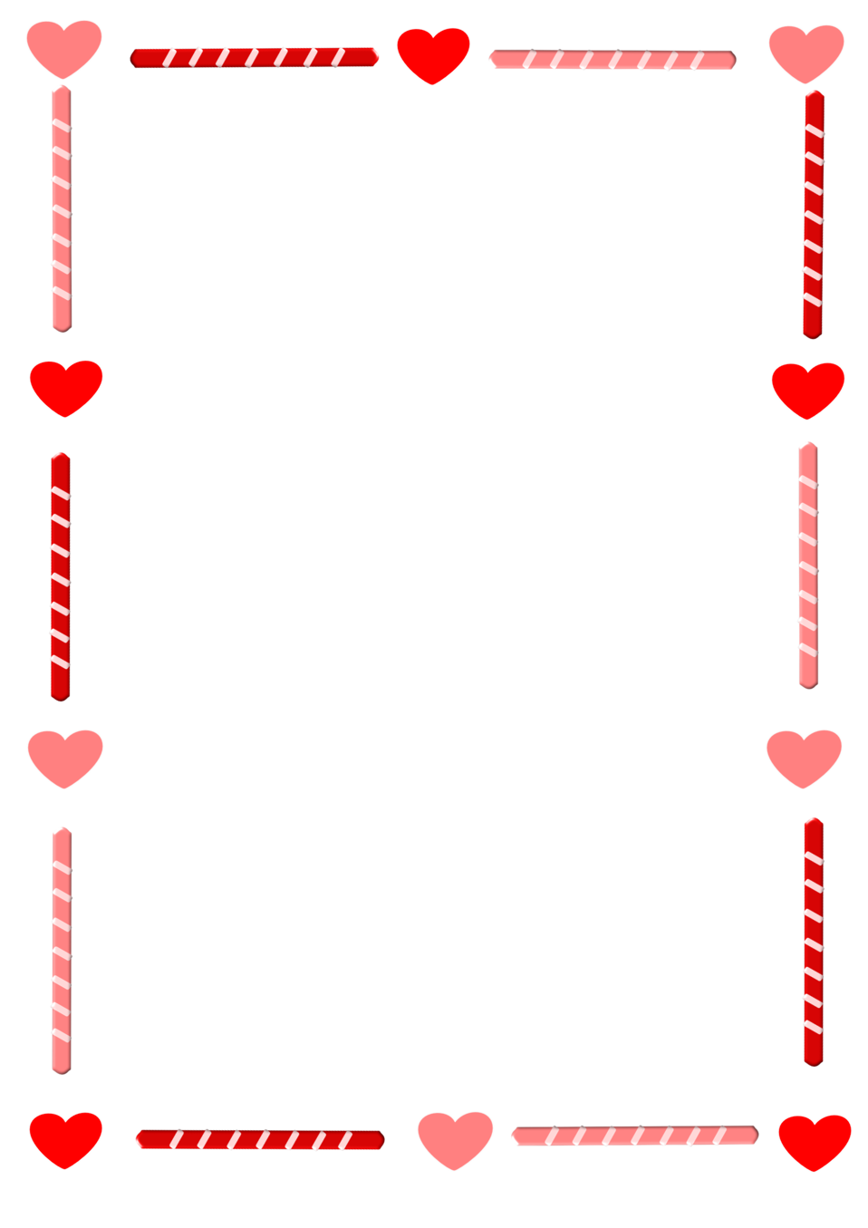 Heart and Candy Border