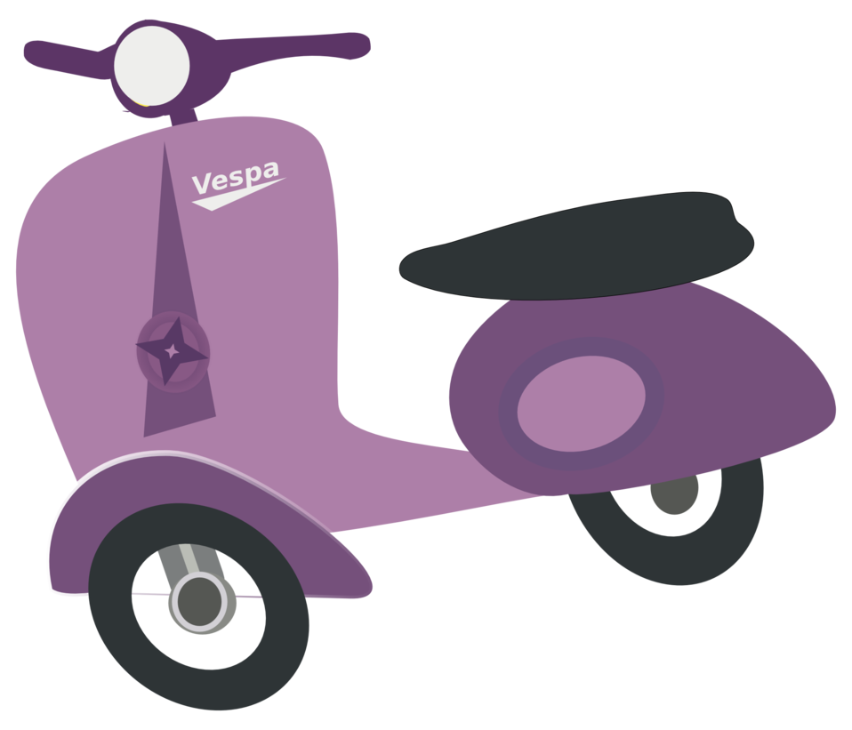 Purple Vespa scooter