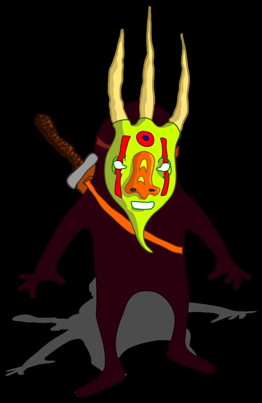 Ninja con mascara - Ninja with mask