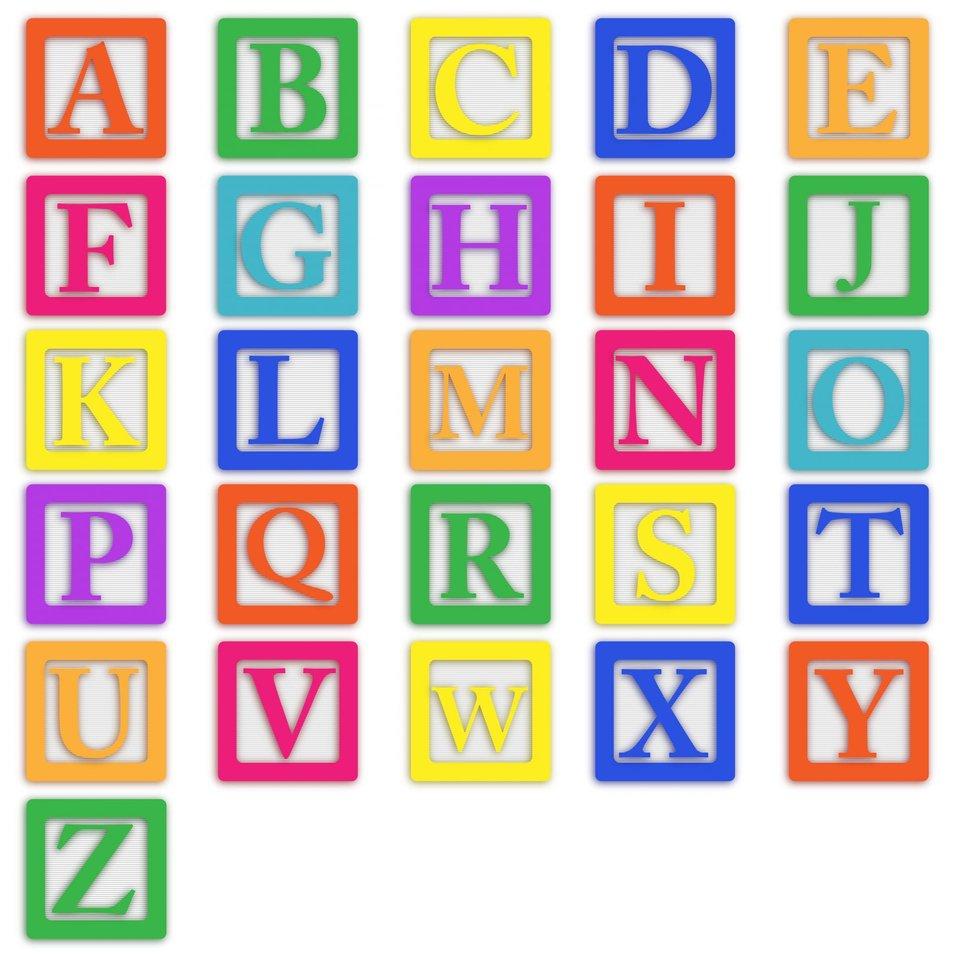 Baby blocks letters