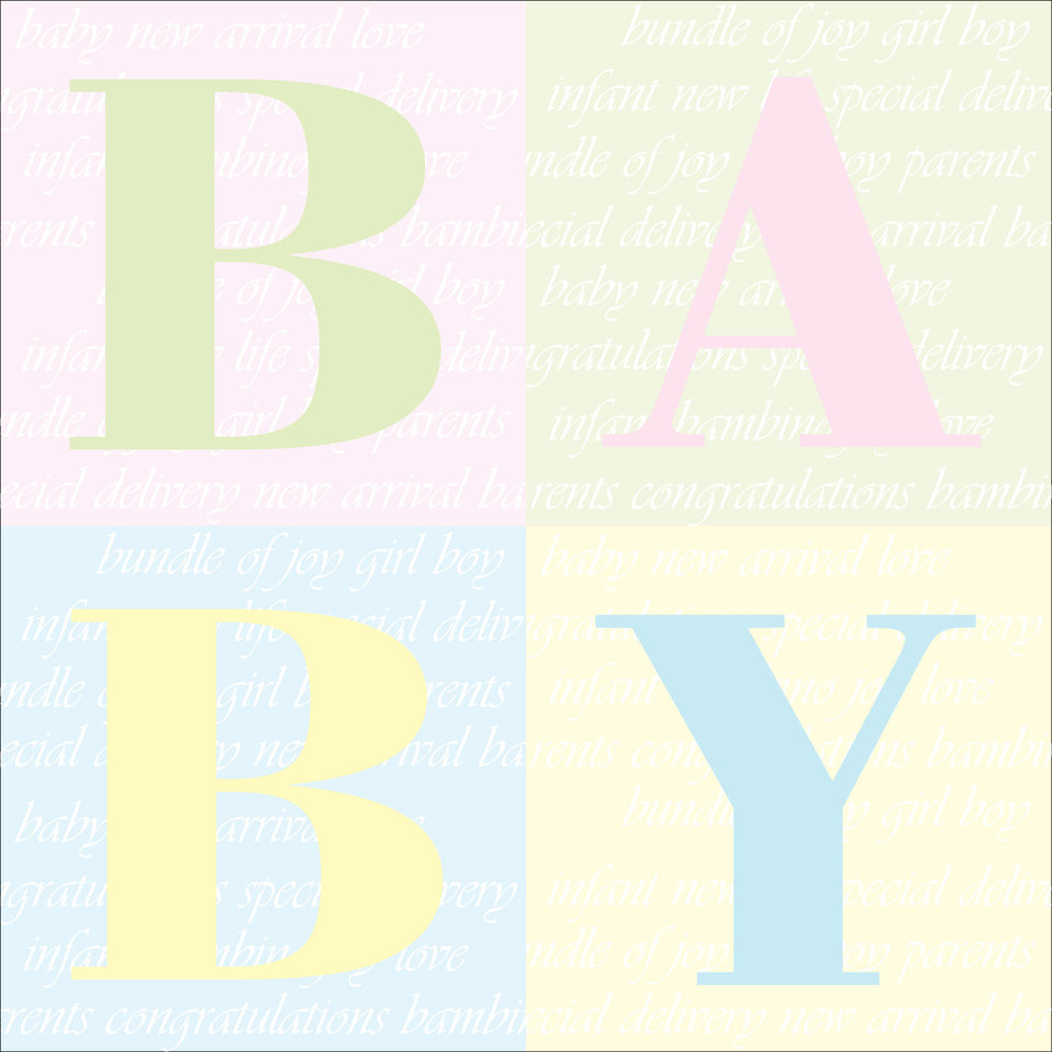 Baby background text