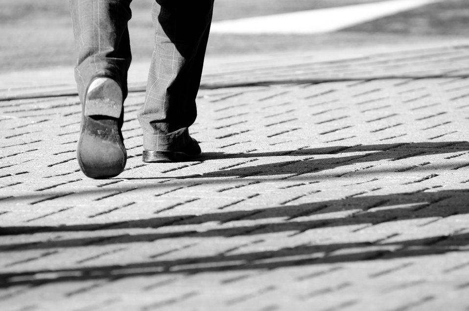 Steps - black and white