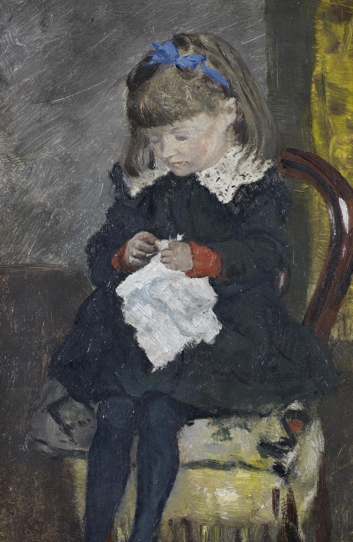 Portrait of Emma Bogaerts. Oil on panel. 32 x 23.5 cm