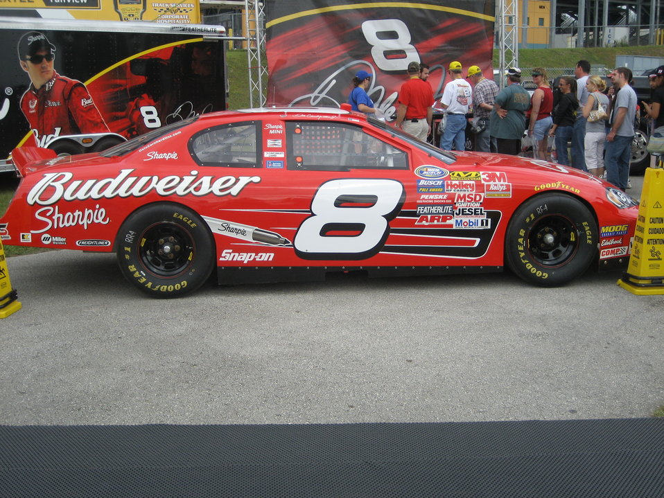 Jr.'s #8 Sharpie Busch car at the Sharpie display at the 2007 Ford Championship Weekend at the Homestead-Miami Speedway. Credit - Chris Green