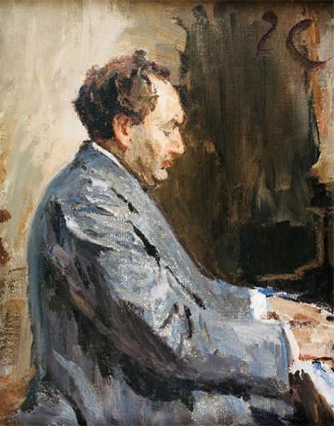 Portrait of the pianist Leopold Godowsky